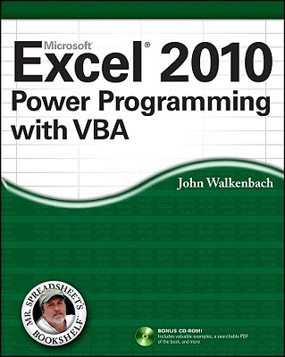 Excel 2010 Power Programming with VBA By Walkenbach, John